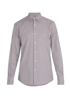 Ermenegildo Zegna Micro-gingham checked cotton shirt