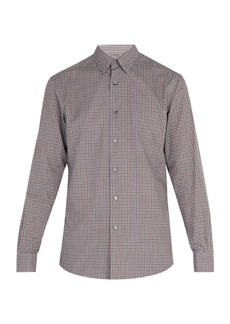 Ermenegildo Zegna Micro-gingham cotton shirt