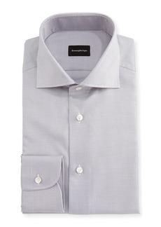 Ermenegildo Zegna Micro-Houndstooth Cotton Dress Shirt
