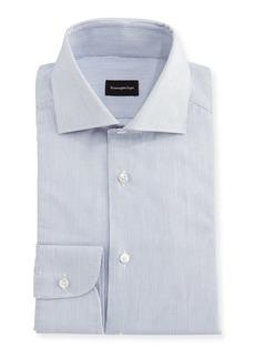 Ermenegildo Zegna Micro-Stripe Cotton Dress Shirt