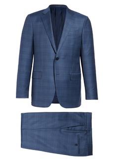 Ermenegildo Zegna Milano Achillfarm Classic Fit Plaid Wool & Silk Suit