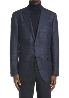 Ermenegildo Zegna Milano Easy Check Wool Sport Coat
