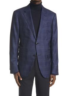 Ermenegildo Zegna Milano Easy Plaid Wool & Silk Sport Coat