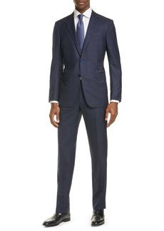Ermenegildo Zegna Milano Trofeo Classic Fit Windowpane Wool & Silk Suit