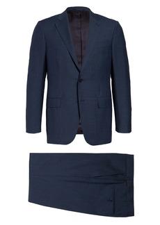 Ermenegildo Zegna Milano Trofeo Classic Fit Wool Blend Mélange Suit