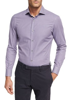 Ermenegildo Zegna Mini-Check Cotton Shirt