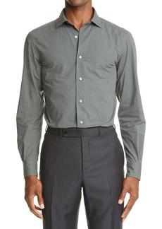 Ermenegildo Zegna Mélange Button Up Shirt