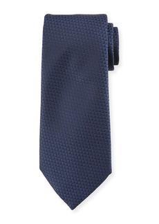 Ermenegildo Zegna Diamond Weave Silk Tie