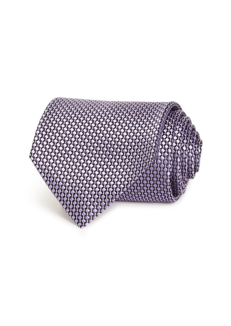 Ermenegildo Zegna Neat Grid Silk Classic Tie