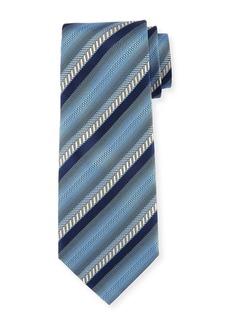 Ermenegildo Zegna Ombre Striped Silk Tie