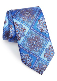 Ermenegildo Zegna Paisley Grid Silk Tie