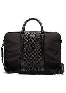 Ermenegildo Zegna Pelle Tessuta woven-leather and nylon briefcase