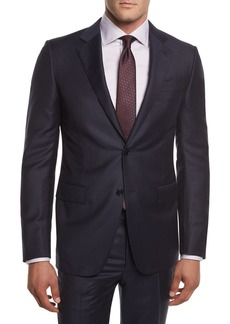 Ermenegildo Zegna Pinstriped Wool Two-Piece Suit
