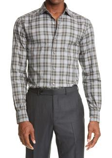 Ermenegildo Zegna Plaid Button-Up Shirt