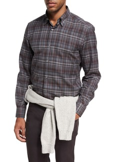 Ermenegildo Zegna Plaid Cotton Shirt
