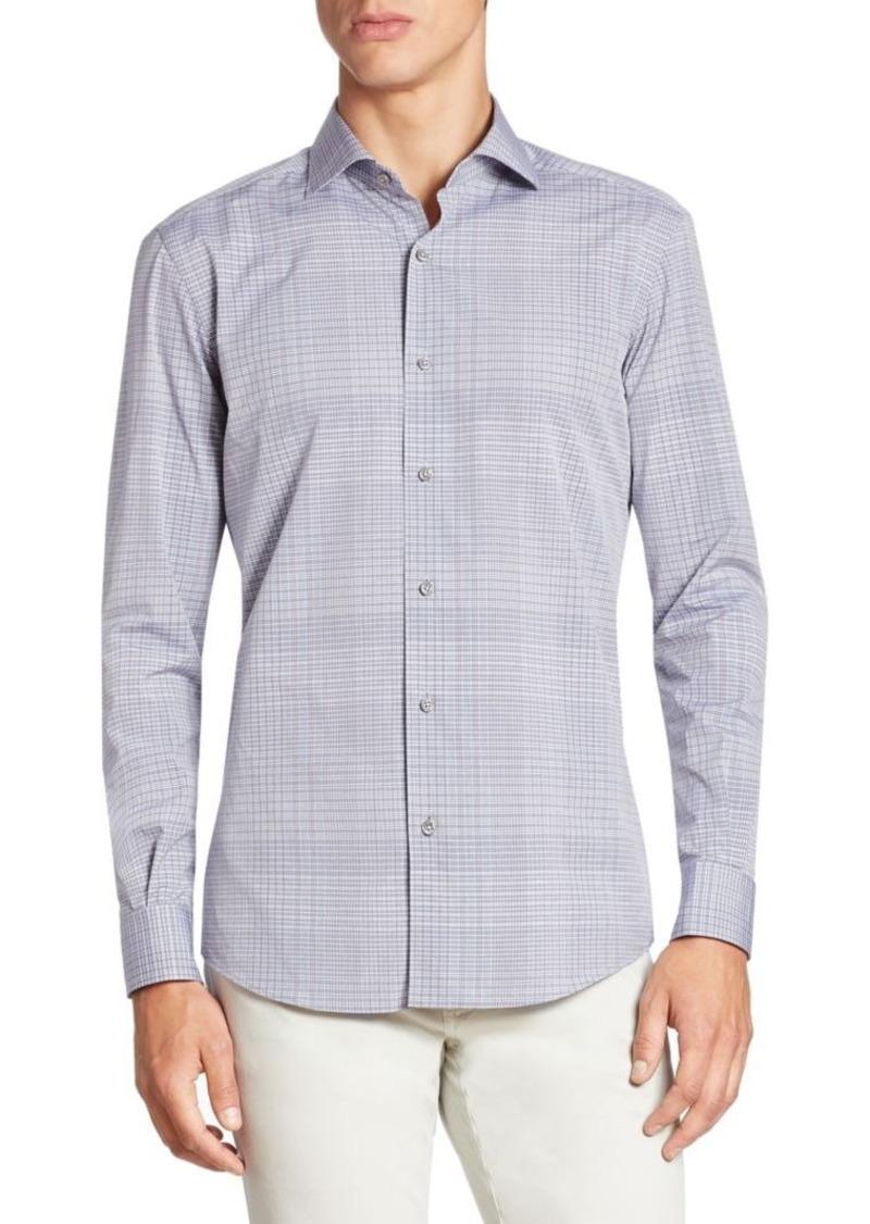ermenegildo zegna ermenegildo zegna plaid cotton shirt casual shirts shop it to me. Black Bedroom Furniture Sets. Home Design Ideas