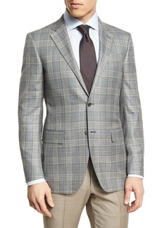 Ermenegildo Zegna Plaid Two-Button Sport Coat