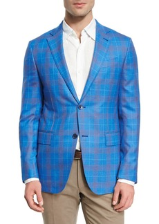 Ermenegildo Zegna Plaid Wool Two-Button Sport Coat
