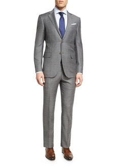 Ermenegildo Zegna Plaid WOOL Two-Piece Suit