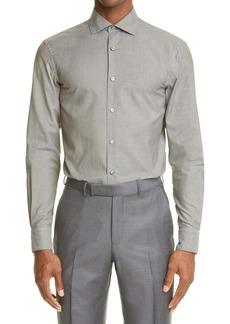Ermenegildo Zegna Premium Cotton Button-Up Shirt