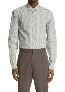 Ermenegildo Zegna Print Button-Up Pure Cotton Shirt