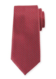 Ermenegildo Zegna Printed Diamonds Silk Tie