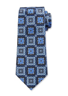 Ermenegildo Zegna Printed Medallions Silk Tie