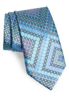 Ermenegildo Zegna Quindici + Quindici Medallion Silk Tie