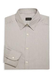 Ermenegildo Zegna Regular-Fit Diamond Dress Shirt