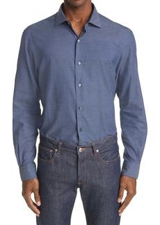 Ermenegildo Zegna Regular Fit Premium Cotton Button-Up Shirt