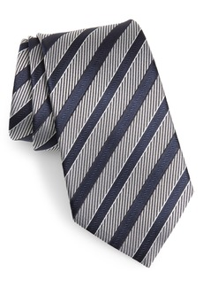 Ermenegildo Zegna Stripe Silk Tie