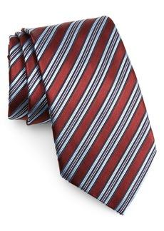 Ermenegildo Zegna Stripe Silk X-Long Tie