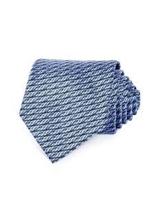 Ermenegildo Zegna Textured Weave Silk Classic Tie