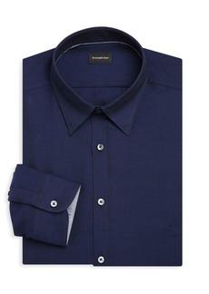 Ermenegildo Zegna Three-Ply Classic-Fit Basic Cotton Dress Shirt