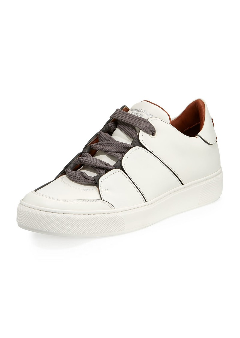Ermenegildo Zegna Tiziano Men S Leather Low Top Sneakers