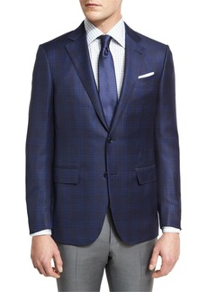 Ermenegildo Zegna Tonal Plaid Two-Button Sport Coat