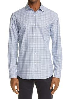 Ermenegildo Zegna Traveller Check Button-Up Shirt