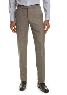 Ermenegildo Zegna Trofeo Classic Fit Tropical Wool Blend Trousers