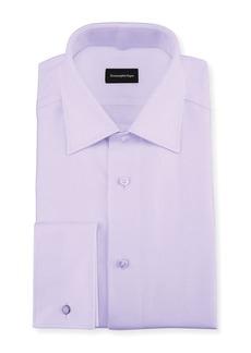 Ermenegildo Zegna Twill Cotton French-Cuff Dress Shirt