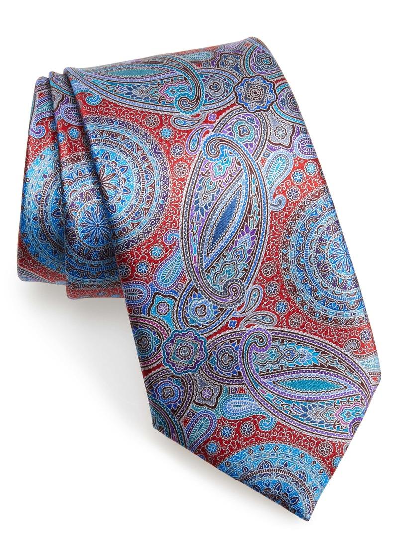 Ermenegildo Zegna Venticinque Paisley Silk Tie