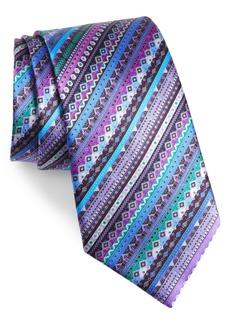 Ermenegildo Zegna Venticinque Stripe Silk Tie