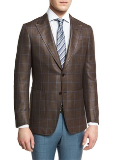 Ermenegildo Zegna Windowpane Check Two-Button Sport Coat