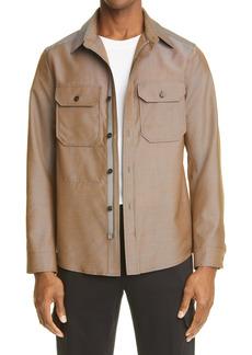 Ermenegildo Zegna Wool & Mohair Shirt Jacket