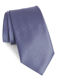 Ermenegildo Zegna Ermengildo Zegna Herringbone Silk Tie