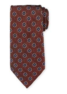 Ermenegildo Zegna Fancy Box Silk Tie  Rust Red