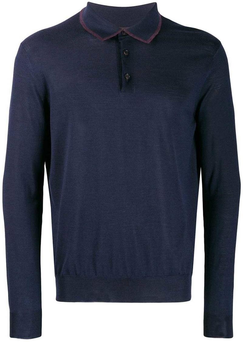 Ermenegildo Zegna fine knit polo shirt