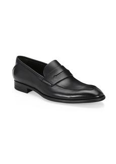 Ermenegildo Zegna Flex Leather Penny Loafers