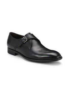 Ermenegildo Zegna Flex Monk Strap Leather Shoes