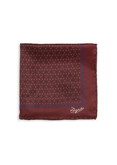 Ermenegildo Zegna Floral Neat Silk Pocket Square