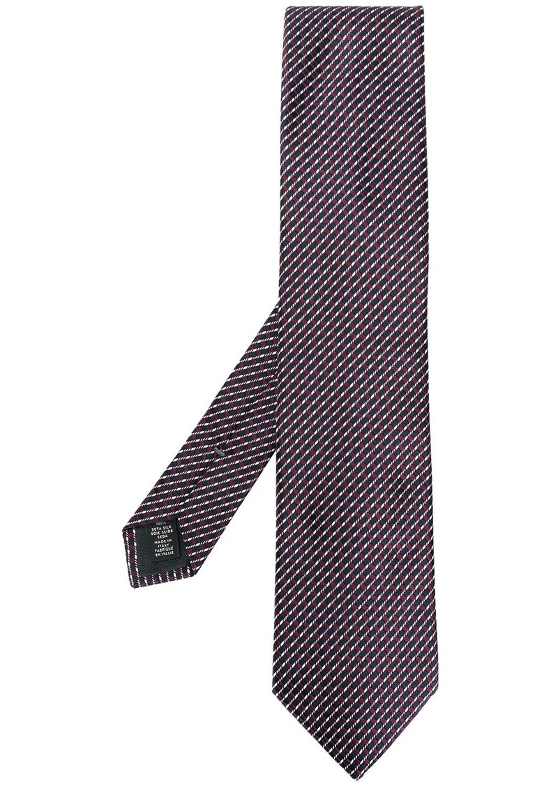 Ermenegildo Zegna geometric embroidered tie